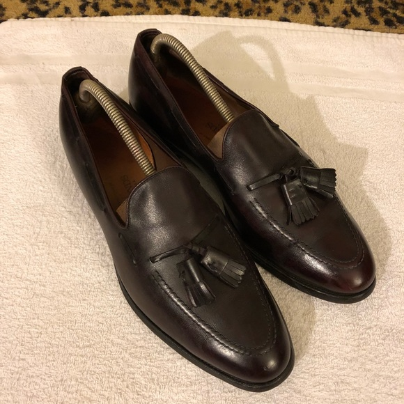 Allen Edmonds GRAYSON Burgundy Tassel Loafers 10.5 616473c2fdb